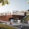 3. Preis: Deutsche Schule Bilbao, LÉON WOHLHAGE WERNIK, Perspektive Eingangsbereich