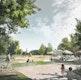Uferspielplatz - Spur der Kristalle - und Café