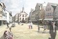 Freie Mitte des Marktplatzes