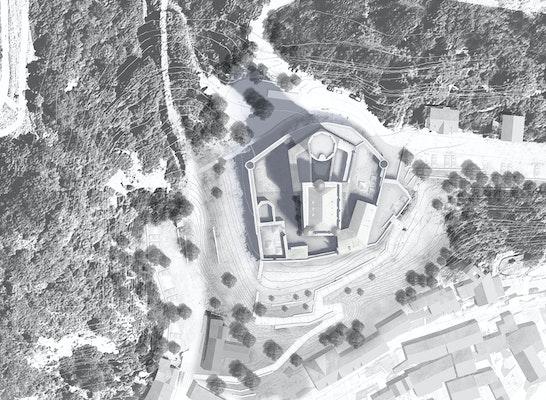 1. Preis Zuschlag: Lageplan mit Darstellung der Wegeführung, © Heinrich Lessing Architekten + Bierbaum.Aichele.Landschaftsarchitekten