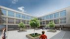 Neubau Perspektive Innenhof