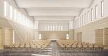 Perspektive großer Gemeindesaal