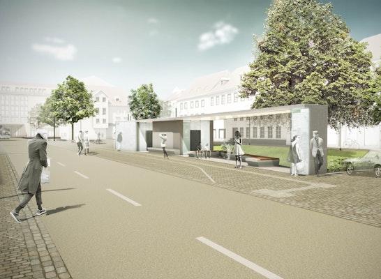 1. Preis Zuschlag: Blick von Süden auf den Schwanenplatz, © TDB Landschaftsarchitektur Partnerschaft
