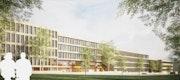 Wettbewerb Neubau Haus 5 der GTZ Eschborn, 3D-Wettbewerbsperspektive