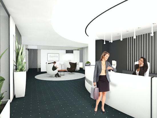 Empfangsbereich mit Empfangstresen, Office Design