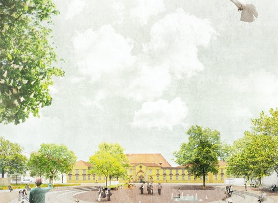 Der Ledenhofplatz als Schlossfreiheit
