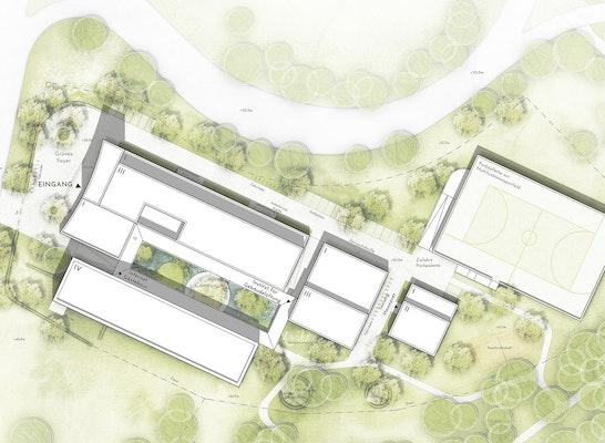 Bildungs- und Innovationszentrum im Schornsteinfegerhandwerk - Lageplan