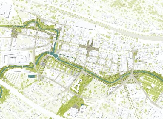 Lageplan Daueranlagen Realisierungs- und Ideenteil M 1:1000