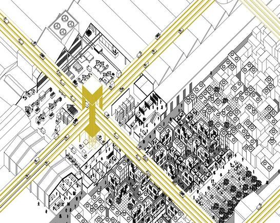 """ein 1. Preis """"Aktivierung des Stadtraumes"""": © Christian Bischoff, Jonas Trittmann"""