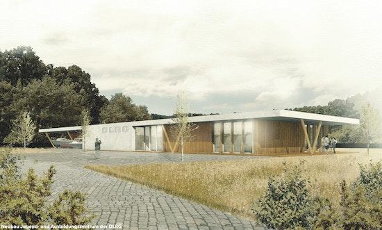 Ideenskizze zum Neubau des Jugend-und Ausbildungszentrums der DLRG Neukölln