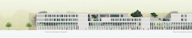 Gymnasium / Realschule Ansicht Süd © BLK2 Architekten