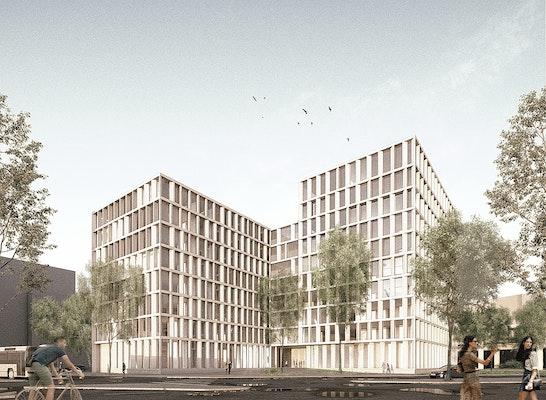2.Preis Wettbewerb Polizeipräsidium Rheinpfalz, Entwurf Harter Kanzler Architekten Freiburg