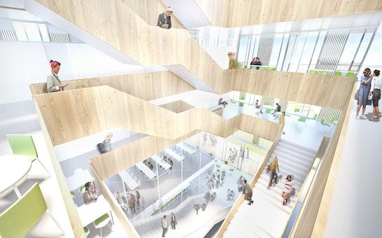 Innenperspektive Fakultätsgebäude