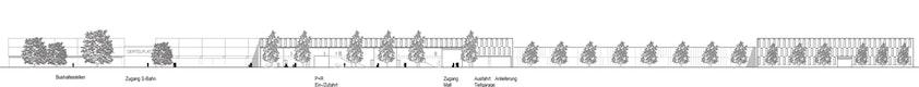 Fassadenansicht zur neuen Erschließungsstraße