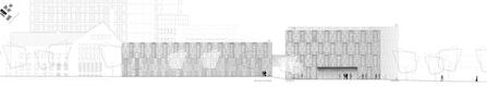 Ansicht - Reaktorhalle und Werkstätten