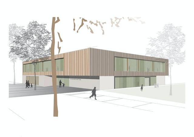 Neubau eines Kindergartens in der Gemeinde Neckarwestheim