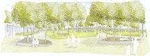 Das Kulturhaus erhält einen großzügigen Vorbereich in Form eines Kulturplatzes, welcher zugleich den Auftakt in den multifunktional angelegten Stempelpark bildet