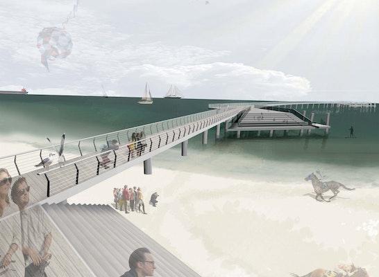 2. Preis - Blick vom Ufer auf die Eventterrasse