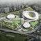 Xujiahui Sportpark Shanghai Luftbild