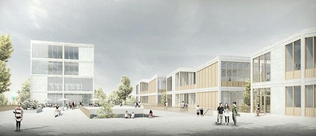 Neubau der Martin-Niemöller Gesamtschule in Bielefeld Schildesche