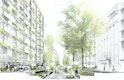St Martin Le Grand als neue Fußgängerzone; abgesenkente Stufen bieten Aufenthaltsmöglichkeiten