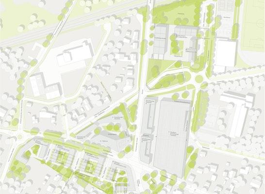 Städtebauliches und freiräumliches Gesamtkonzept. M 1:1.000