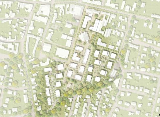 1. Preis: Lageplan Pallottiner Areal, © ASTOC / FSWLA