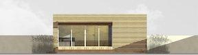 Ansicht Terrassenbereich, Variante 2 (2 Personen, 16m2)