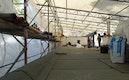 Dachsanierung unter Errichtung eines Schutzdaches während der Baumaßnahmen