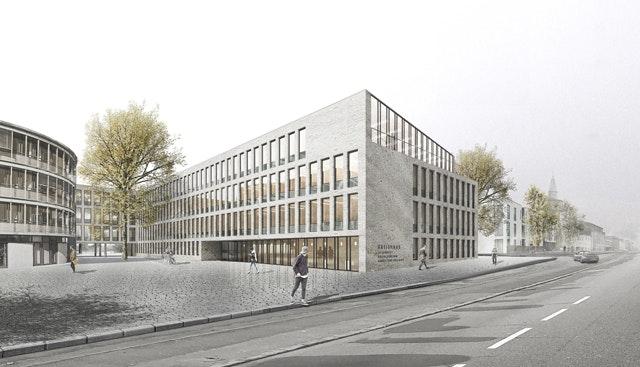 Visualisierung Marktstraße Erweiterungsneubau Kreishaus Husum