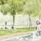 Perspektive Besselplatz mit Wunschbrunnen