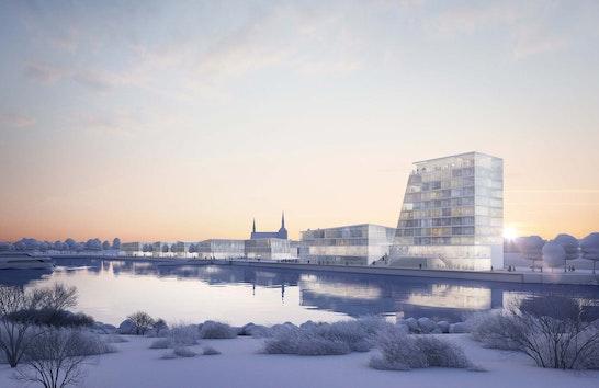1. Rang: Blick von Nordosten über die Ober-Eider, visualisiert von dreidesign, © LH Architekten