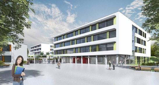 Zuschlag: Fassaden Schulhof