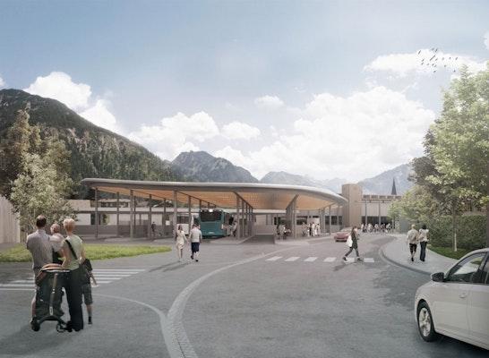 1. Preis: Blick auf den Busbahnhof von Norden