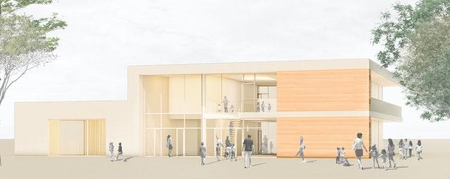 Neubau einer 6-gruppigen Kindertagesstätte Dornholzhausen