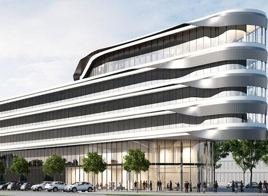 Fraunhofer-Institut für Windenergie und Ernergiesystemtechnik IWES, Kassel. Entwurf: Lepel & Lepel, Köln