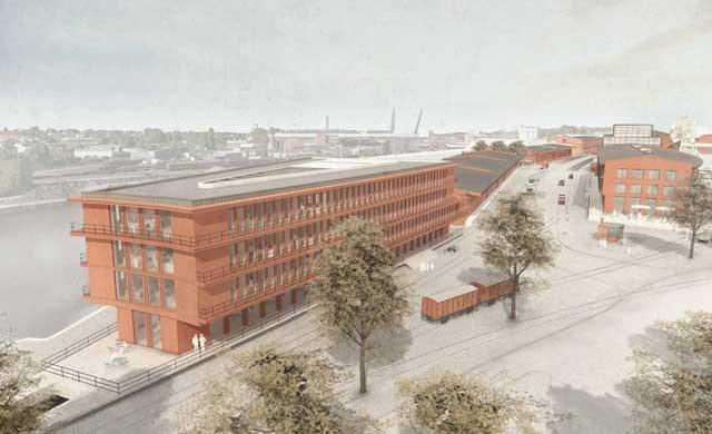 Neubau eines Medienhauses auf der Nördlichen Wallhalbinsel Lübeck