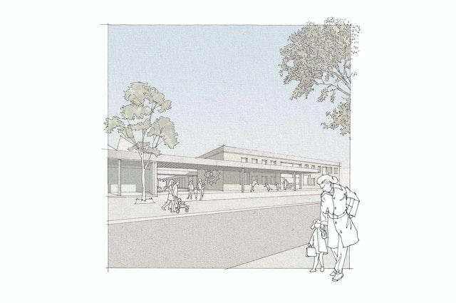 NAK Architekten | Eingangsperspektive