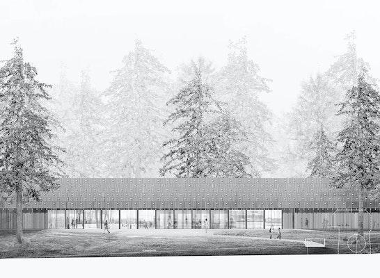 1. Preis: Südostfassade, © Cukrowicz Nachbaur Architekten ZT GmbH
