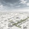 Blick aus der Vogelperspektive auf das neue Stadtteilzentrum Schalkwijk Midden in Haarlem (NL)