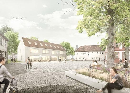 Neuer Schlossplatz mit Neubau