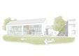 Orangerie - Visualisierung der Südfassade mit neuem Eingangsbereich