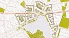 Lageplan – Geschlossene Raumkante zur Uferpromenade, Öffnung zum Wohnquartier