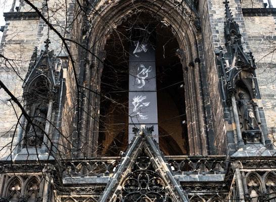 Banner im Turm St. Nikolai