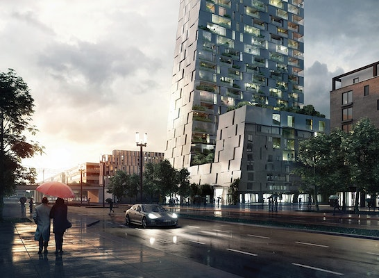 2 preis porsche design tower competitionline - Blauraum architekten ...