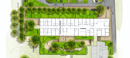 Auszug Freianlagenplanung Modulbau KNK