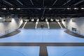 Die Nebenhalle, die ebenfalls mit Tribünenanlagen für bis zu 2000 Zuschauer ausgestattet ist