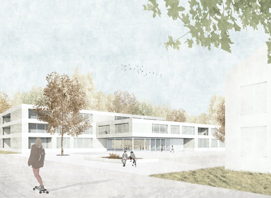 1. Preis: Blick zum Eingang, © NAK Architekten