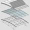 Trennung der Funktionen des Daches in: - außen liegenden Sonnenschutz (neu) - Verglasungsebene (neu) - Tragstruktur (die vorhandene innere Tragstruktur bleibt erhalten)