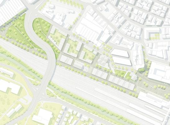 ein 1. Preis Städtebaulicher Ideenteil: © bbzl böhm benfer zahiri